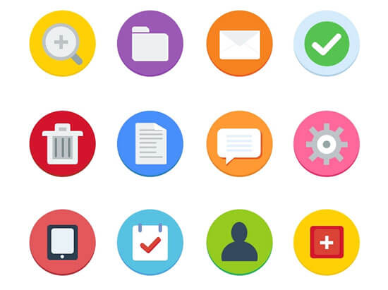 12 Flat Icons Free by Dan Vineyard