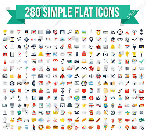 280 Simple Flat Vector