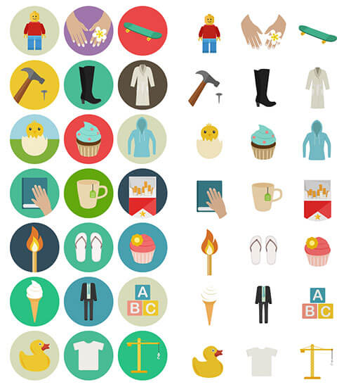 60 Astonishing Flat Icons For Free
