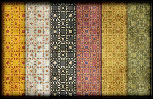 Grungy Vintage Dots Patterns
