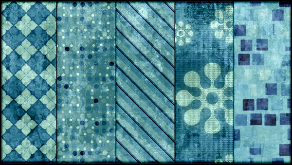 Grungy Teal Tileable Patterns