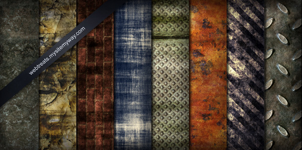 8 Tileable Grunge Textures & Pattern Set
