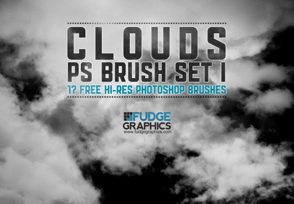 Free Hi-Res Clouds Photoshop Brush Set 1