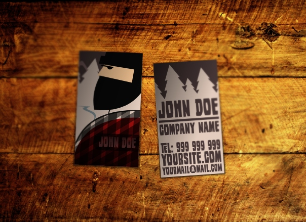 Wood Industry Business Card