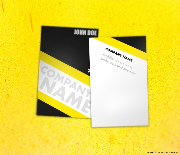 Universal Yellow Business Card