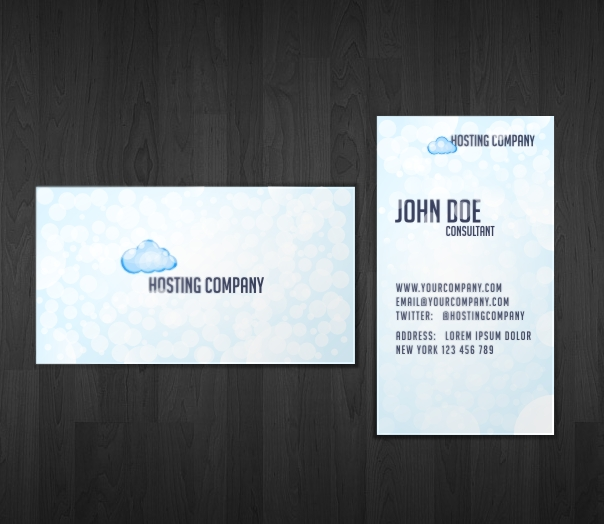 Business Card for Web Hosting Company