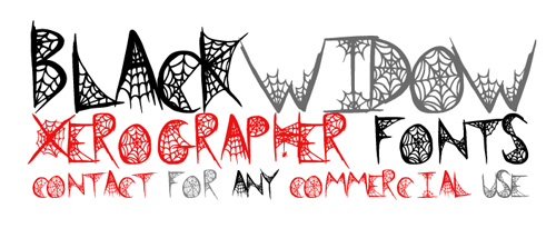 Free Spider Web Font Black Widow