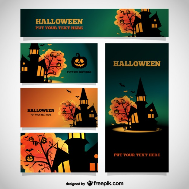 Halloween templates set