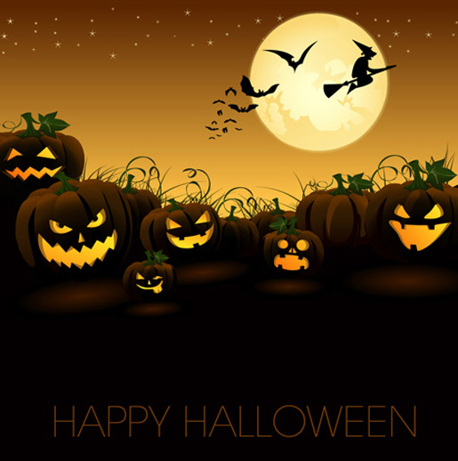 Halloween Night Vector Graphic