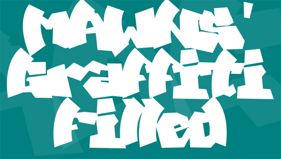 MAWNS' Graffiti Filled Font