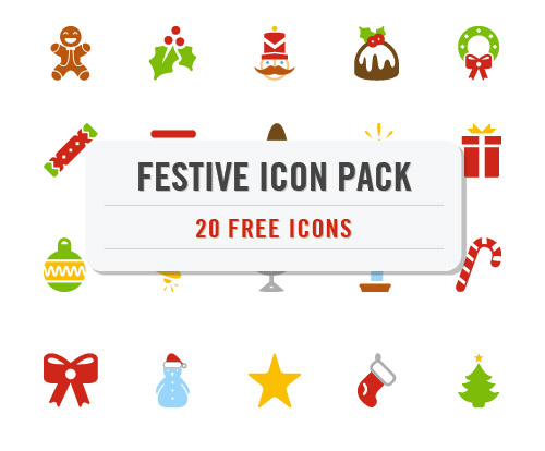 Festive Christmas Icon Pack (20 .EPS Icons)