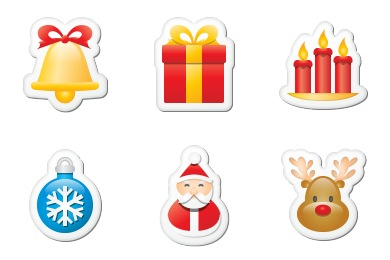Iconset: Xmas Stickers Icons by Double-J Design