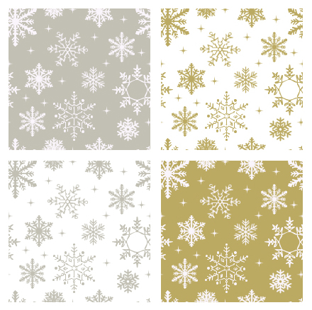 Silver and Gold Flake Patterns