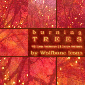 Burning Trees Texture Set