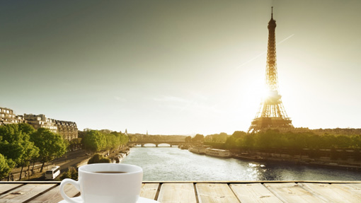 Cup Of Coffee The Eiffel Tower
