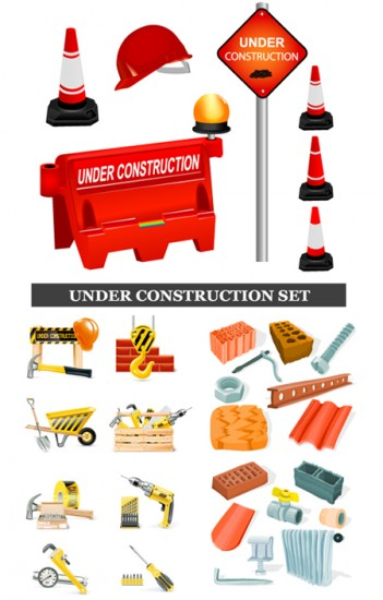 Сonstruction transportationrelated Free vector