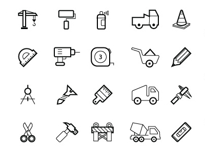 50 Free Vector Construction Icons