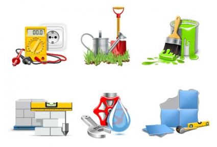 Different repair and construction icon