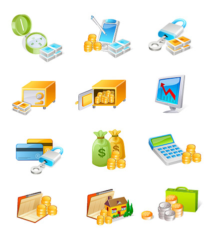 Vector Money Icons material
