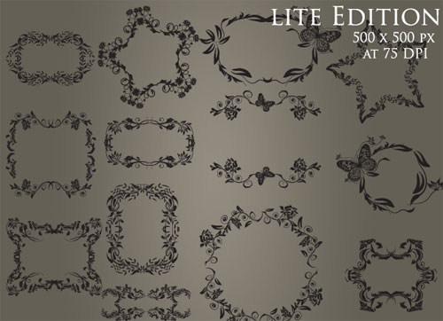 Ornate Frame Photoshop Brushes