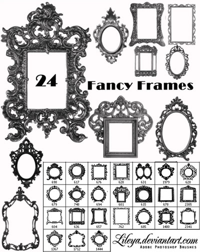 Fancy Frames Brush Set 2
