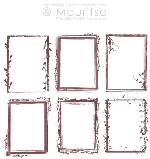 Brush Pack - Grungy Frames 02