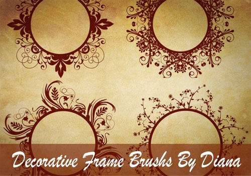 Decorative Swirl Frame Brushes