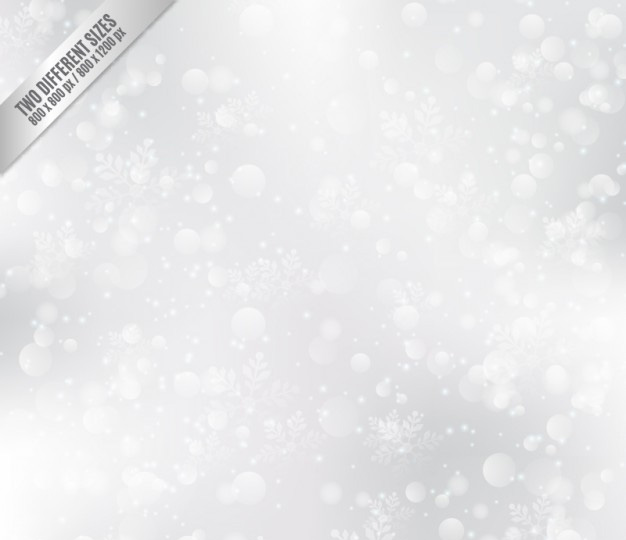 White Bokeh Background with Snowflakes