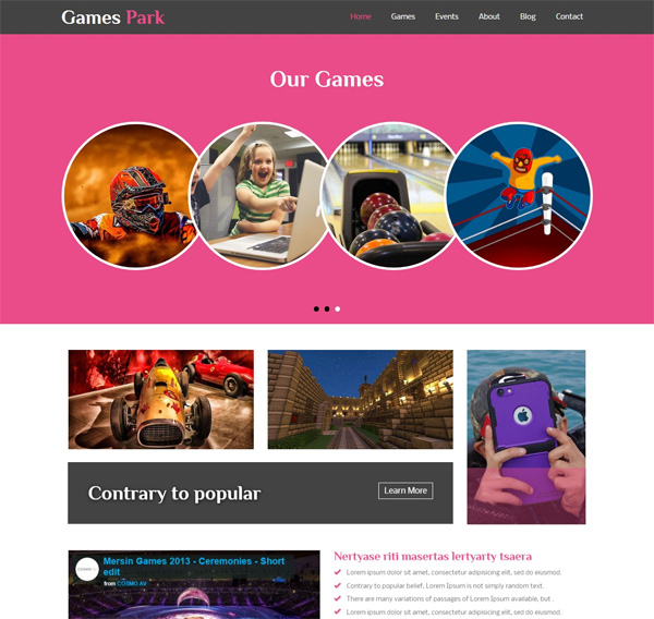 Games Park Template