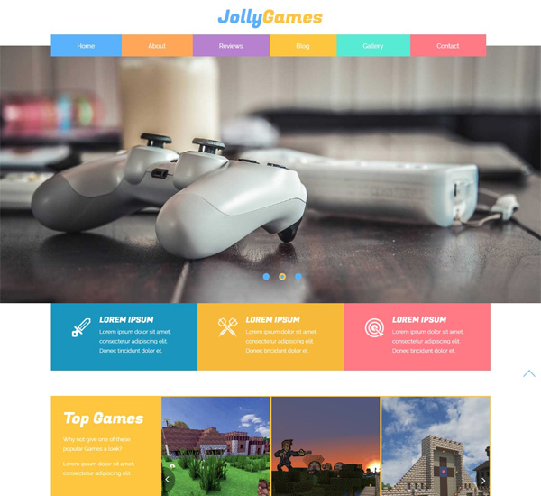 Jolly Games Bootstrap Responsive