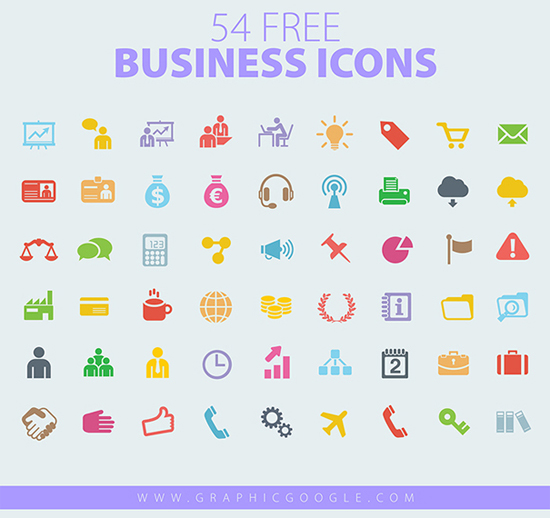 54 Free Business Vector Icons