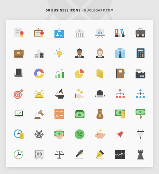 Nucleo Flat Business Iconset