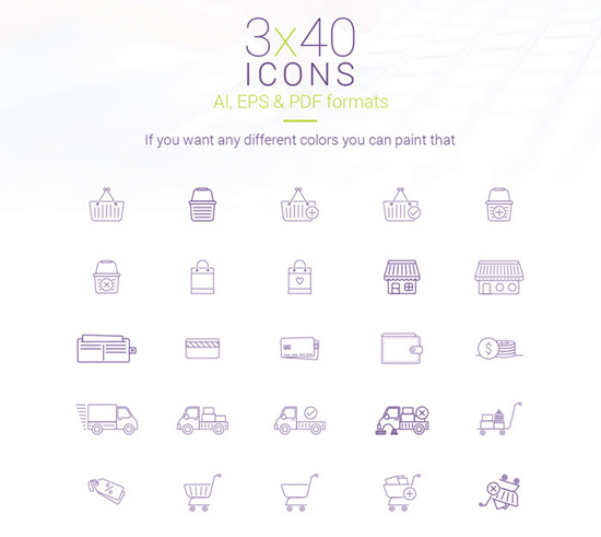 40 eCommerce Vector Icons