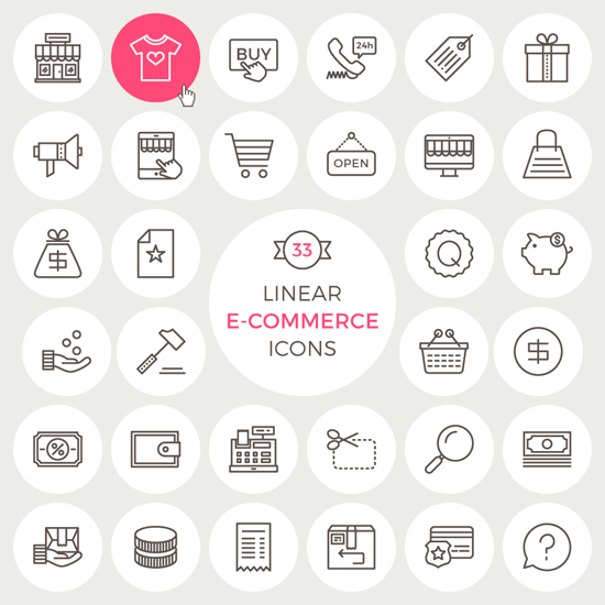33 Free Linear eCommerce Icons