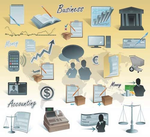 Different Business Vector Icons