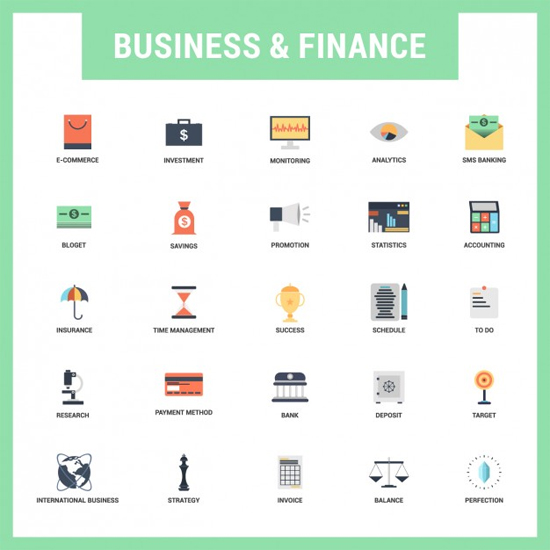 Flat Business/Finances Icons