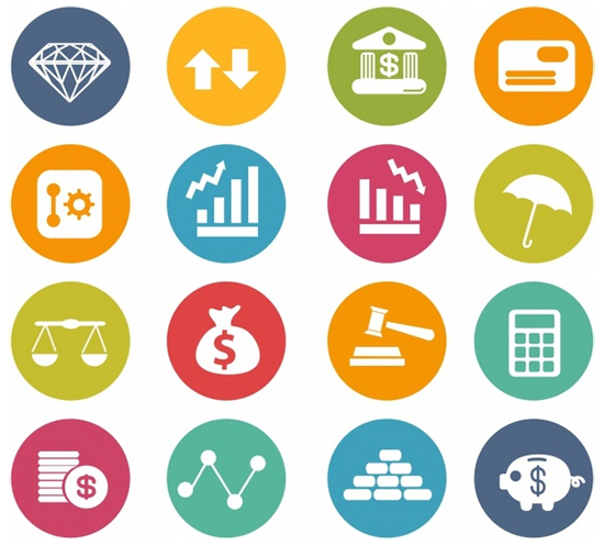 Finance Icons Circle