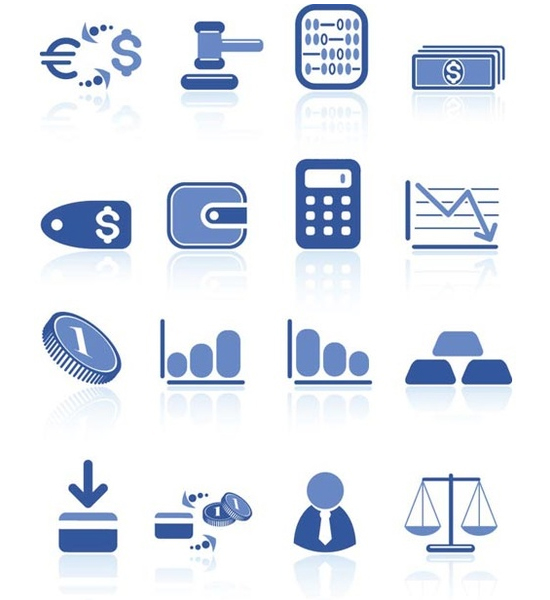 Vector Blue Bank/Finance Icons