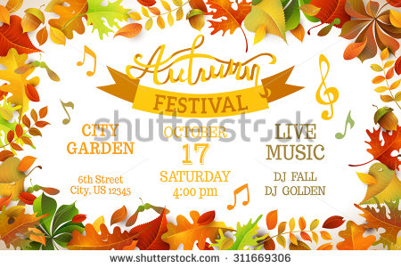 Autumn Festival template
