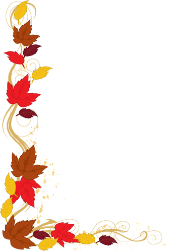 Borders Autumn Leaves Clipart