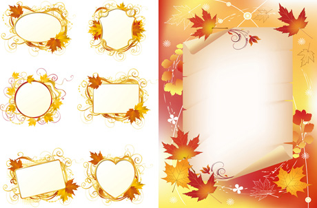 Maple Leaf Border Free Vector