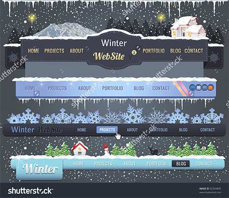 Winter Header Navigation