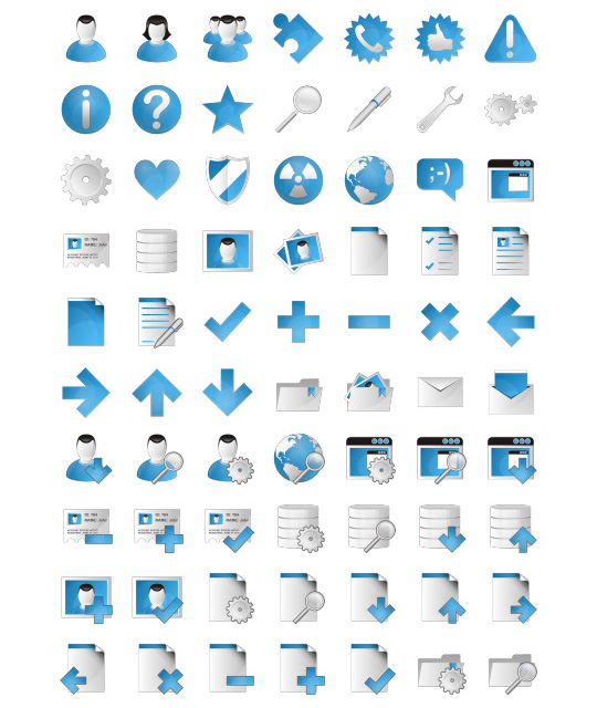Blue Bits Basic icons