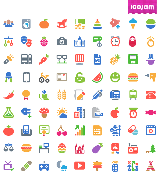 Cosmo Color vector icons