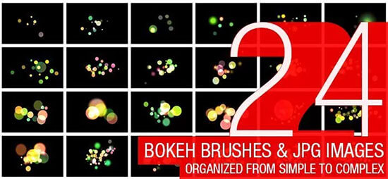 Freebie: 24 Abstract Bokeh Brushes
