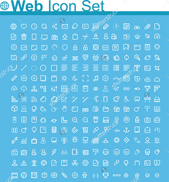Vector Webpage Icons