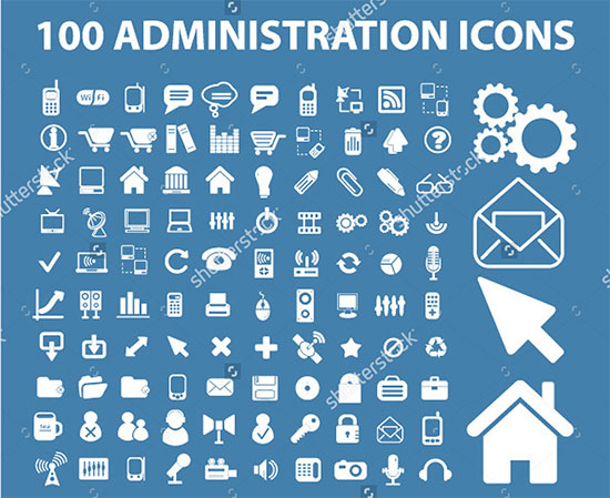 100 Administration Icons