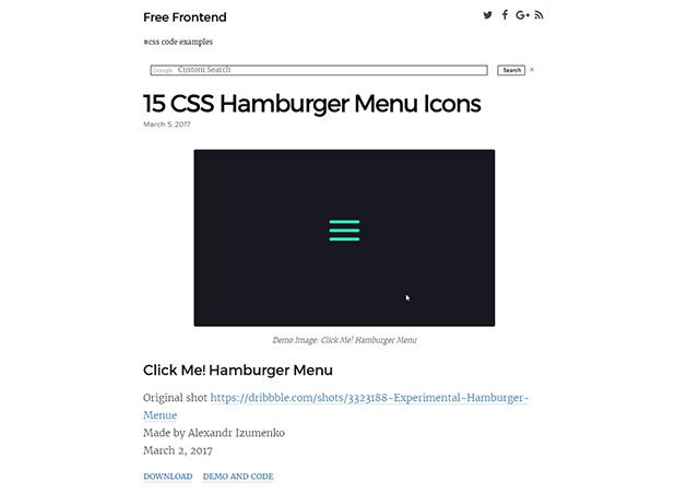 15 Hamburger Icons in CSS