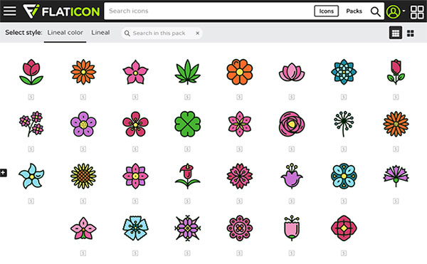 30 Detailed Rounded Flowers