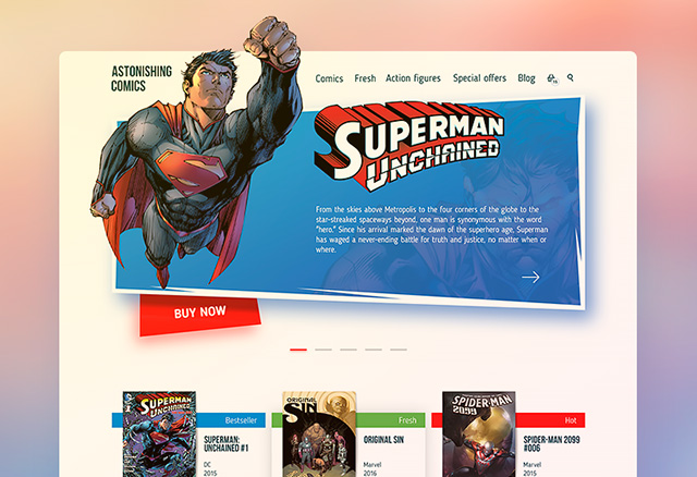 Comics Shop Website